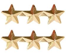 "Ribbon Attachment 5/16"" Three Star Gold - pair"