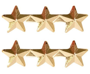 "Ribbon Attachment 5/16"" Three Star Gold - pair"