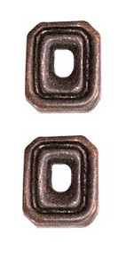 Ribbon Attachments Number 0 – bronze - pair