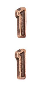 Ribbon Attachments Number 1 – bronze - pair