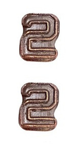 Ribbon Attachments Number 2 – bronze - pair