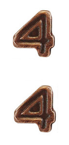 Ribbon Attachments Number 4 – bronze - pair