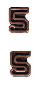 Ribbon Attachments Number 5 – bronze - pair