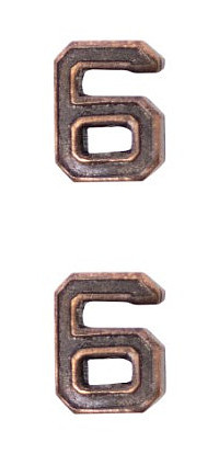 Ribbon Attachments Number 6 – bronze - pair