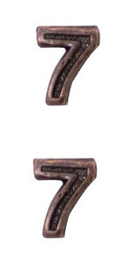 Ribbon Attachments Number 7 – bronze - pair