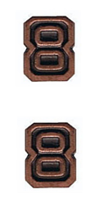 Ribbon Attachments Number 8 – bronze - pair