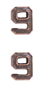 Ribbon Attachments Number 9 – bronze - pair