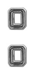 Ribbon Attachments Number 0 – silver - pair