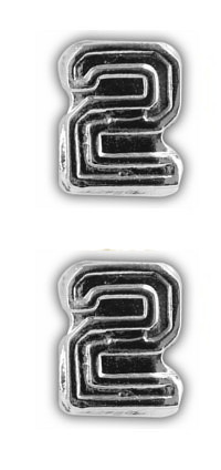 Ribbon Attachments Number 2 – silver - pair