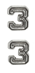 Ribbon Attachments Number 3 – silver - pair