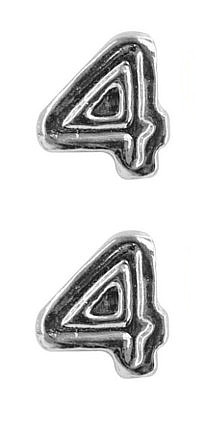 Ribbon Attachments Number 4 – silver - pair