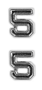 Ribbon Attachments Number 5 – silver - pair
