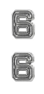 Ribbon Attachments Number 6 – silver - pair
