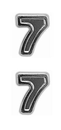 Ribbon Attachments Number 7 – silver - pair