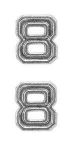 Ribbon Attachments Number 8 – silver - pair