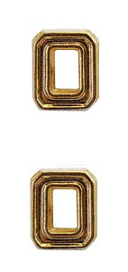Ribbon Attachments Number 0 – gold - pair