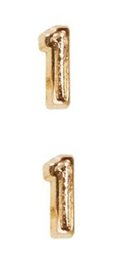Ribbon Attachments Number 1 – gold - pair