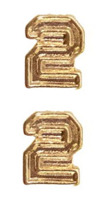 Ribbon Attachments Number 2 – gold - pair