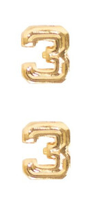 Ribbon Attachments Number 3 – gold - pair