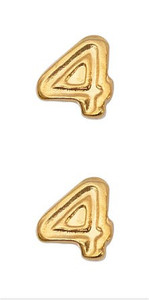 Ribbon Attachments Number 4 – gold - pair
