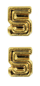 Ribbon Attachments Number 5 – gold - pair
