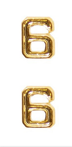 Ribbon Attachments Number 6 – gold - pair