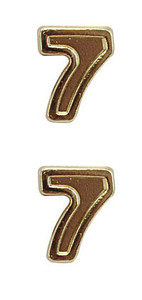 Ribbon Attachments Number 7 – gold - pair