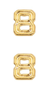 Ribbon Attachments Number 8 – gold - pair