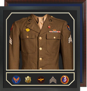 "32"" x 34"" Uniform Shadow Box with Accessory Window"