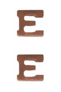 Ribbon Attachment Letter E - bronze - pair
