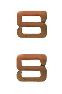 Ribbon Attachment Letter S - bronze - pair
