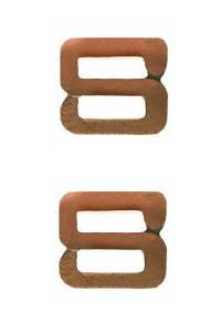 Ribbon Attachment Letter S - bronze - pair