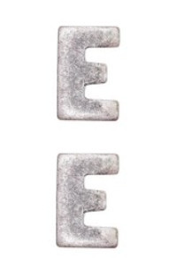 Ribbon Attachment Letter E – The Navy E Ribbon - silver - pair