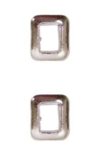 Ribbon Attachment Letter O -  silver - pair
