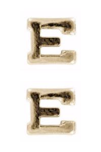 Ribbon Attachment Letter E - gold – pair