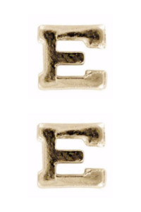 Ribbon Attachment Letter E - gold – pair