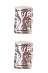 Ribbon Attachments Hourglass - silver