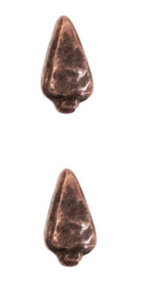 Ribbon Attachments Arrowhead – bronze – pair