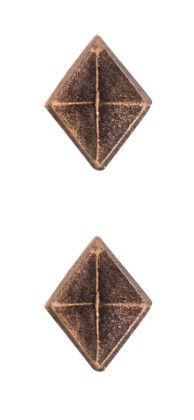 Ribbon Attachments Diamond – bronze – pair