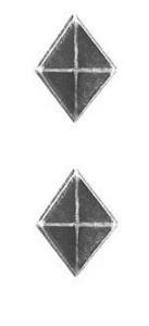 Ribbon Attachments Diamond – silver – pair