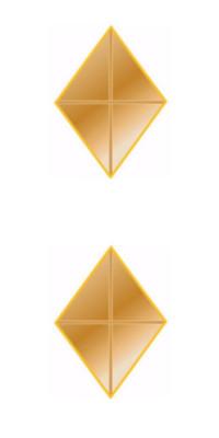 Ribbon Attachments Diamond – gold – pair