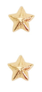 Miniature Medal Attachment 1/8 inch One Star – gold - pair