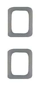 Miniature Medal Attachment Letter O – silver – pair
