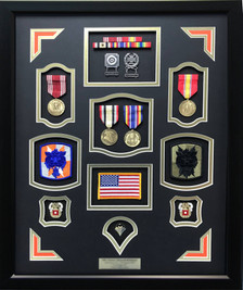 Army Signal Shadow Box Display Frame