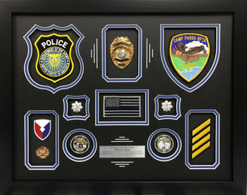 Department of the Army Police Shadow Box Frame Display