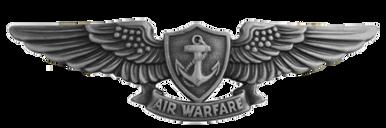 Navy Badge: Aviation Warfare Specialist - regulation size, oxidized