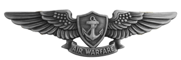 Navy Badge: Aviation Warfare Specialist - regulation size, oxidized
