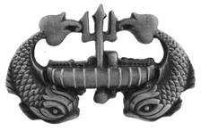 Navy Badge: Deep Submergence Enlisted - regulation size - silver oxidized finish