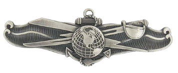 Navy Badge: Information Dominance Warfare Enlisted – oxidized