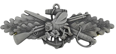 Navy Badge: Seabee Combat Warfare Specialist Enlisted – Oxidized
